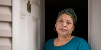 """Rachel Hughes has not left her home since her husband, Pastor Terrance """"Big T"""" Hughes was hospitalized for COVID-19 in early March. (Photo by Marie-Dominique Verdier)"""